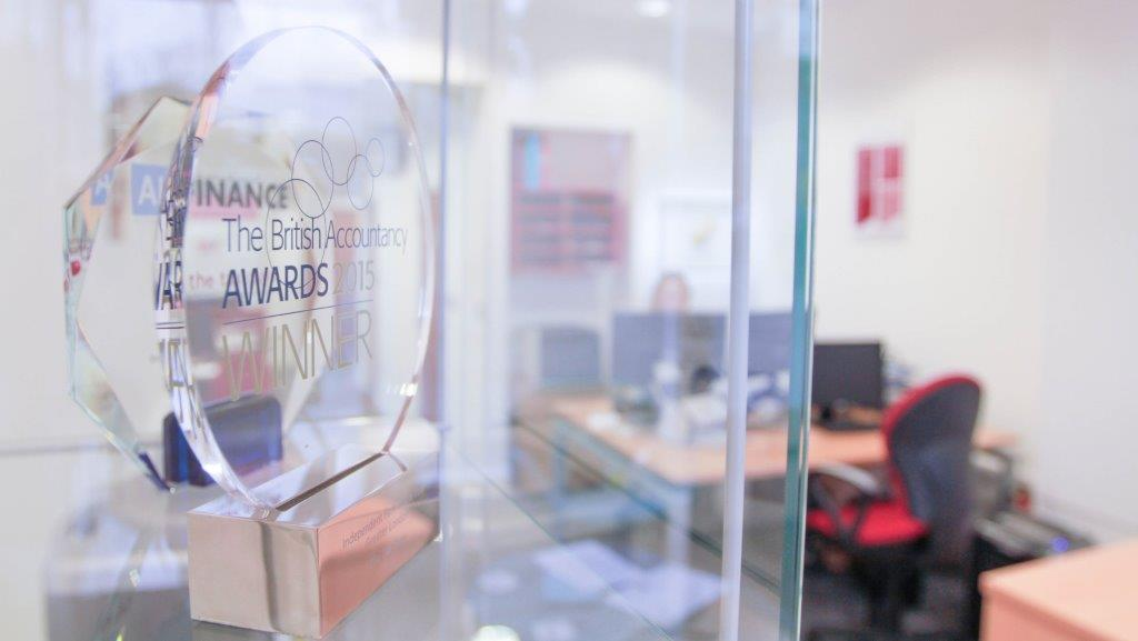 British Accountancy award picture of plaque Awards Estate Planning UK