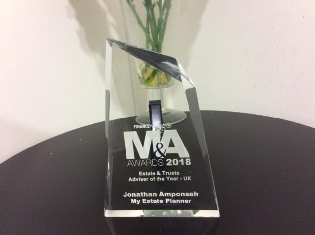 picture of plaque Awards Estate Planning UK
